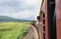 The SRPS Railtours <I>West Highland Centenary Special</I> crossing Rannoch Moor on the approach to Rannoch station on 7 August 1994 hauled by 2005 and 3442.<br><br>[John McIntyre&nbsp;07/08/1994]
