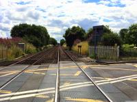 A quick grabshot taken while walking (briskly) across the line at Cornton on 1st August 2016. Before the railway through Stirling is electrified in 2019, Network Rail plans to close the existing vehicle and foot crossings at Cornton and replace them with a road bridge with pedestrian and cycle access. <br><br>[Colin McDonald&nbsp;01/08/2016]