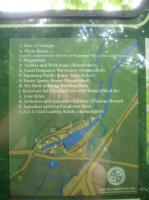A view of part of the display board for the Silkstone Waggonway facilities at Barnby Canal Basin, Barugh, between Barnsley & Cawthorne, also shows the Silkstone Branch of the Yorkshire & Lancaster Railway as running across the A635 road close by. This confirms that the remaining section of bridge abutment on the south side of the A635 [See image 56220] was for an over-bridge on this branch, which ran west then south from Silkstone Junction, mid way between Barnsley & Darton stations, on the L & Y line to Horbury Junction.<br><br>[David Pesterfield&nbsp;04/08/2016]