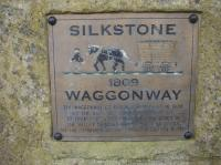 A small plaque providing information about the horse drawn Silkstone Waggonway is sited at a display alongside the A635 Cawthorne Road, between Barnsley & Cawthorne, opposite the former Barnby canal basin where coal was transferred to barge from various collieries in the area.<br><br>[David Pesterfield&nbsp;04/08/2016]