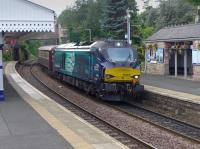 68005 enters Aberdour with a 'Northern Belle' excursion from Glasgow to Dundee. 68022 was on the rear.<br><br>[Bill Roberton 07/08/2016]