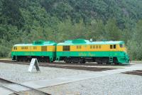 Two General Electric built class 90 locomotives at Skagway. These are 6-axle diesel-electric locomotives delivered between 1954 and 1966.<br><br>[Deon Webber&nbsp;05/06/2016]