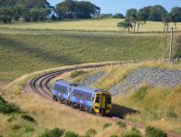 158701 nears Falahill Summit with the 16.11 from Edinburgh to Tweedbank.<br><br>[Bill Roberton&nbsp;21/08/2016]