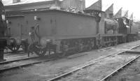 Wainwright 'C' class 0-6-0 31724 is one of the local 75A residents in the shed yard at Brighton in August 1961. <br><br>[K A Gray&nbsp;14/08/1961]