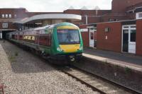 A London Midland service from Rugeley to Birmingham New Street calls at Walsall on 21 June 2016.<br><br>[John McIntyre&nbsp;21/06/2016]