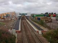 Progress at Edinburgh Gateway on 01/09/2016. Commuters may see the<br> opening in December as a mixed blessing (or an unmixed curse) as the extra<br> stop can only lengthen journey times for those not interchanging here.<br><br>[David Panton&nbsp;01/09/2016]