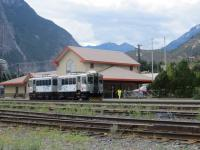 Lillooet, British Columbia - a very rare example of a Canadian rural passenger service.  This curious DMU operated by CN for the BC Government operates a daily service known as the Kaoham Shuttle along the shores of Seton Lake, connecting First Nations settlements around Seton Portage with the small town of Lillooet, taking about an hour to complete its scenic run.<br><br>[Mark Wringe&nbsp;17/08/2013]