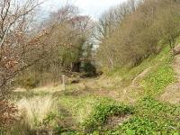 Braeside Junction with line to Crombie diverging to the left; line to Elbowend Junction diverging to the right with site of Braeside Halt under the bridge.<br><br>[Mark Poustie&nbsp;10/04/2016]