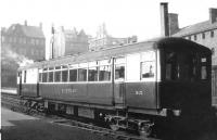Sentinel railcar no 35 <I>Nettle</I> photographed at Carlisle in the 1930s.<br><br>[Dougie Squance (Courtesy Bruce McCartney)&nbsp;//]