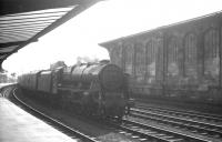 Rebuilt <I>Patriot</I> 4-6-0 no 45545 <I>Planet</I> arrives in the west sidings at Carlisle on 26 March 1964 with a terminating parcels train from the south.<br><br>[K A Gray&nbsp;26/03/1964]