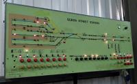 The signalling board for Glasgow Queen Street box from the period it was controlled from Cowlairs. Both lines out are bidirectional, but 'other line' running is rare (meaning I've never seen it). The board is now on display in the Scottish Museum of Railways<br><br>[David Panton&nbsp;03/09/2016]