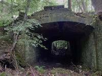 Bridge/tunnel which carried an estate road to Fordell House, demolished in 1963, over the Fordell Railway.<br> <br> Looking south.<br><br>[Bill Roberton&nbsp;13/09/2016]