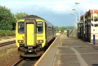 One of the few through services during the week from Blackpool to Liverpool departs from Kirkham and Wesham on the evening of 20 July 2016.<br><br>[John McIntyre&nbsp;20/07/2016]