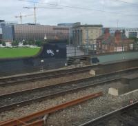Birmingham Curson Street's remaining building, the terminus of the London and Birmingham Railway, viewed from the lines which replaced it, taking the line on to the through Birmingham New Street station. Curzon Street's environs are the projected location of the terminus of the High Speed 2 line.<br><br>[John Yellowlees 18/09/2016]