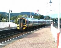 A late afternoon Inverness - Glasgow Queen Street service runs into Aviemore on 15 September 2004. <br><br>[John Furnevel&nbsp;15/09/2004]