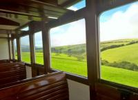 Narrow gauge steam traction, varnished wooden seats, and glorious views. Three steps to heaven! [see image 31779]<br><br>[Ken Strachan&nbsp;28/08/2016]