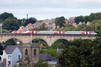 Southbound East Coast train on Durham viaduct.<br><br>[Colin Miller&nbsp;23/09/2016]