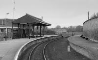 Forres passenger station, view looking west.<br><br>[Bill Roberton&nbsp;//1991]