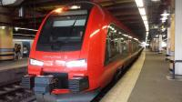 This Stadler FLIRT X74 EMU belongs to the open-access operator MTR Express. These units compete with SJ and Skandinaviska Jernbanor (Blå Tåget) for custom on the route to and from Gothenburg.<br> MTR also has the contract to run the Stockholm subway trains (Tunnelbana).<br><br>[Charlie Niven&nbsp;16/08/2016]
