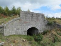 After nearly four decades hidden behind trees and vegetation, the granite brickwork of this bridge looks in remarkably good condition bearing in mind the harsh Highland winters of past.<br><br>[Clive Meredith&nbsp;04/09/2016]
