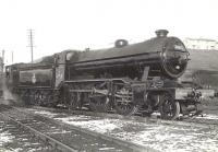 Gresley K2 2-6-0 61763 on shed at Eastfield in May 1955.