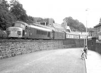 D22 pulling away from Galashiels on 27 July 1968 with the down <I>Waverley</I>.