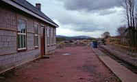 Broomhill station under reconstruction in 1993. View looks to Boat of Garten.<br><br>[Ewan Crawford&nbsp;//1993]