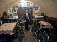 The space under the road bridge at Quorn station has been turned into a NAAFI canteen for Forties weekends. The gent at the centre of the shot may appear a little waxen, but was very much alive. View looks North.<br><br>[Ken Strachan&nbsp;10/09/2016]