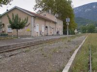 Quillan, terminus of the branch from Carcassonne.  The line used to continue through the mountains to Axat where services for freight and heritage trains continue to Rivesaltes.  The surviving passenger service is under threat.<br><br>[Bill Roberton&nbsp;17/10/2016]