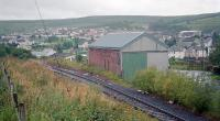 View south over the site of Patna station in 1996 showing the former goods shed.<br><br>[Ewan Crawford&nbsp;//1996]