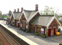 Sunshine on Appleby station in May 2006, looking south west from the footbridge.<br><br>[John Furnevel&nbsp;06/05/2006]