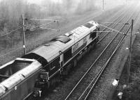 EWS 66049 leaving Millerhill Yard northbound in October 2000 with coal empties bound for Hunterston.<br><br>[John Furnevel&nbsp;14/10/2000]