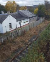 The former station building at Millerhill looking south.<br><br>[John Yellowlees&nbsp;07/11/2016]