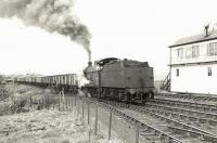 Ex-LMS 4F 0-6-0 44329 at Drongan on 30 March 1959 with trip K45 to Littlemill Colliery.<br><br>[G H Robin collection by courtesy of the Mitchell Library, Glasgow&nbsp;30/03/1959]