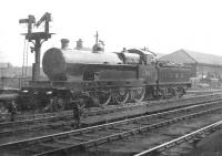 LMS Claughton class 4-6-0 no 5997 <I>Buckingham</I> standing at the south end of Carlisle Citadel station, thought to have been taken in the early 1930s.<br><br>[Dougie Squance (Courtesy Bruce McCartney)&nbsp;//]