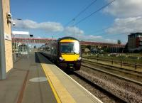 What a lovely day to go to Stansted. 170 .105 approaches the island platform on 1st October 2015. [see image 7242 for a return working]<br><br>[Ken Strachan&nbsp;01/10/2015]