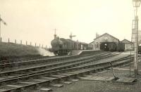 Ex-GNSR 4-4-0 62274 <I>Benachie</I> leaving Macduff on 11 July 1951 with a train for Aberdeen. <br><br>[G H Robin collection by courtesy of the Mitchell Library, Glasgow&nbsp;11/07/1951]