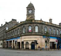 A gloomy Thursday lunchtime at the foot of Leith Walk in September 2006, with the old Leith Central station building looking abandoned and unwanted.<br><br>[John Furnevel&nbsp;14/09/2006]