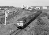 56101 leaves Blindwells Coal Terminal, about the join the ECML.<br><br>[Bill Roberton&nbsp;//1991]