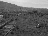 Looking east to the end of the line at Burntisland Docks.  The rails used to connect with the main line for coal traffic but were cut back in the 1970s.<br><br>[Bill Roberton&nbsp;//1987]