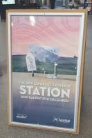 A poster advertising the new Edinburgh Gateway train and tram station due to open on the 11th of December.<br><br> <br><br> The <a target=external href=https://www.scotrail.co.uk/node/363969>ScotRail website details</a>:<br><br> <br><br> This new interchange hub offers transfers from the ScotRail network directly onto Edinburgh Trams for travel to Edinburgh Airport.<br><br> <br><br> Edinburgh Gateway is a bright, accessible space featuring a booking office, lifts, escalators, waiting rooms, toilet facilities, as well as 104 cycle spaces. It's served by a covered footbridge linking to the Tram station.<br><br> <br><br> Fife-based passengers will benefit from two additional trains per hour (a total of six) split between Edinburgh Gateway (four per hour) and South Gyle Station (two per hour). For commuters, there'll be 14 trains arriving at Edinburgh Gateway or South Gyle stations between 07:00 – 09:00.<br><br> <br><br> The station will provide frequent links to Edinburgh Business Park, The Gyle Shopping Centre - with covered access from the station - and Edinburgh Haymarket and Waverley stations.<br><br> <br><br> The following services will call at Edinburgh Gateway station:<br><br> <br><br> Edinburgh - Glenrothes (both directions of the Fife Circle)<br><br> Edinburgh - Perth<br><br> Edinburgh - Dundee<br><br> Edinburgh - Inverness<br><br> Note: also late night Edinburgh - Aberdeen.<br> <br><br>[John Yellowlees&nbsp;05/12/2016]