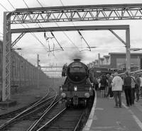 Flying Scotsman seen causing a stir at Carlisle on 'The Waverley'.<br><br>[Bill Jamieson&nbsp;/10/2016]