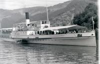 PS Beatus seen on Lake Thun in July 1962. Unfortunately she was withdrawn the following year and scrapped in 1964.<br><br>[Colin Miller&nbsp;/07/1962]