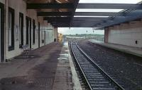 Under the roof at Dunbar in 1987 looking east. The overall roof and disused platform have since been removed.<br><br>[Ewan Crawford&nbsp;//1987]