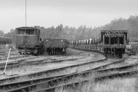 Sidings on the east side of Millerhill Yard, occupied by engineers' wagons. To be the location of the new EMU depot?<br><br>[Bill Roberton&nbsp;//1996]