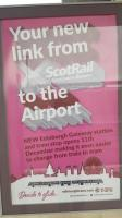 Edinburgh Gateway Tram poster.<br><br>[John Yellowlees&nbsp;11/12/2016]