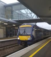 170455 becomes the first train from Edinburgh, the 0915 to Aberdeen, to arrive at Edinburgh Gateway.<br><br>[John Yellowlees&nbsp;11/12/2016]