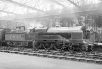 LMS 'Claughton' class 4-6-0 no 5953 <I>Buckingham</I> with a train at Carlisle in the early 1930s. Built in 1917 for the LNWR (as 986) the locomotive was withdrawn in 1936.<br><br>[Dougie Squance (Courtesy Bruce McCartney)&nbsp;//]