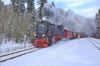 Making a brisk departure from Drei Annen Hohne station in 2013.<br><br>[Ian Dinmore&nbsp;26/01/2013]