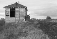 Surviving platform building at Strathord in 1992, looking north.<br><br>[Bill Roberton&nbsp;//1992]